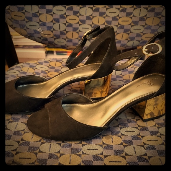 Black And Gold Shoes | Poshmark